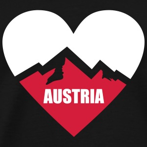 Austria Heart with Alps T-Shirts - Men's Premium T-Shirt