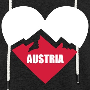Austria Heart with Alps Hoodies & Sweatshirts - Light Unisex Sweatshirt Hoodie