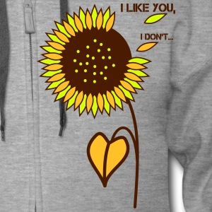 sunflower - I like you - Men's Premium Hooded Jacket