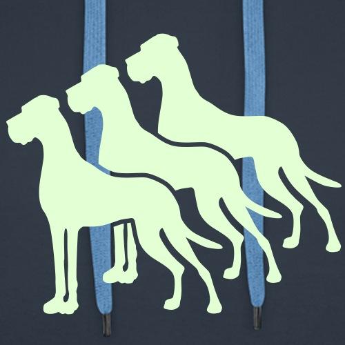 Drei Doggen eine Farbe