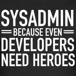 Geek | Sysadmin Hero T-shirts - Slim Fit T-shirt herr