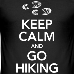 Keep Calm And Go Hiking | Hiking Boots T-Shirts - Männer Slim Fit T-Shirt
