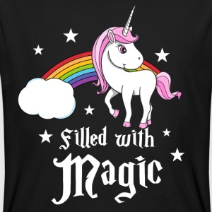 Unicorn - Filled with Magic Magliette - T-shirt ecologica da uomo