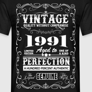 Premium Vintage 1991 Aged To Perfection T-Shirts - Men's T-Shirt