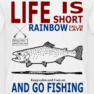 Life is short rainbow T-Shirts - Männer T-Shirt