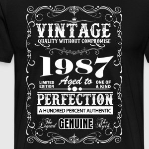 Premium Vintage 1987 Aged To Perfection T-Shirts - Men's Premium T-Shirt