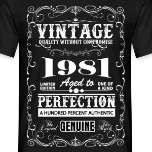 Premium Vintage 1981 Aged To Perfection T-Shirts - Men's T-Shirt