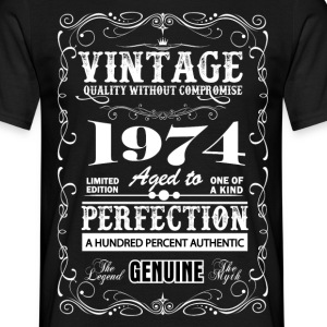 Premium Vintage 1974 Aged To Perfection T-Shirts - Men's T-Shirt