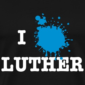 I Love Luther (Martin Luther) T-shirts - Mannen Premium T-shirt