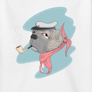 Kaptajn Pug T-shirts - Teenager-T-shirt