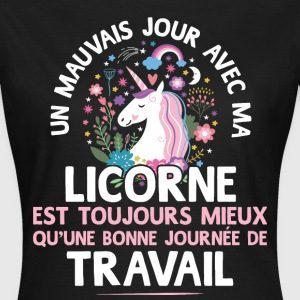 travailoulicorne.png Tee shirts - T-shirt Femme
