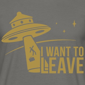 I want To Leave - UFO Tee shirts - T-shirt Homme