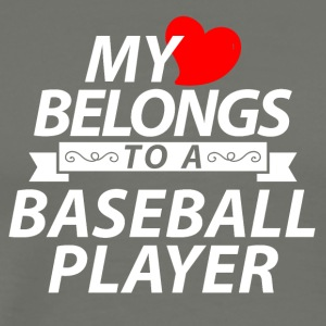 My heart belongs to a Baseball Player - Männer Premium T-Shirt