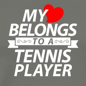 My heart belongs to a tennis player - Männer Premium T-Shirt