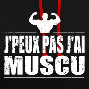 J'peux pas j'ai muscu Sweat-shirts - Sweat-shirt contraste