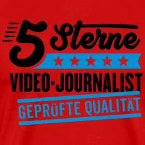 5Sterne Video-Journalist - Männer Premium T-Shirt