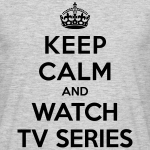 Keep calm and watch tv series Koszulki - Koszulka męska