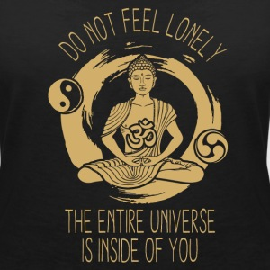 Do not leave see you, the whole universe is in you! T-Shirts - Women's V-Neck T-Shirt