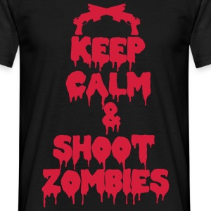 Keep calm and shoot zombies  - Men's T-Shirt