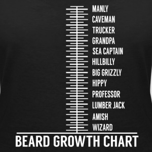 Beard growth scale T-Shirts - Women's V-Neck T-Shirt