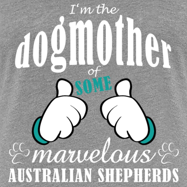 Dogmother, some Aussies T-shirts - Vrouwen Premium T-shirt