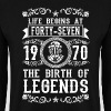 1970 - 47 years - Legends - 2017 Bluzy - Bluza męska