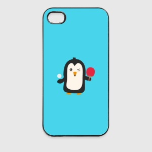 Penguin plays table tennis - case Phone & Tablet Cases - iPhone 4/4s Hard Case