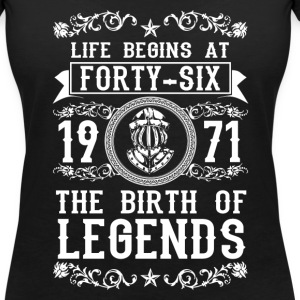 1971 - 46 years - Legends - 2017 Camisetas - Camiseta con escote en pico mujer