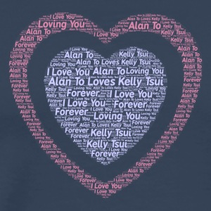 Customize your name with your love one into items - Men's Premium T-Shirt