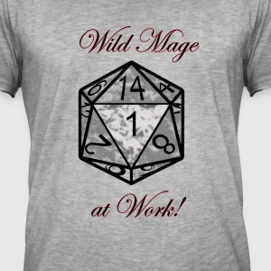 Wild Mage at work T-Shirts - Männer Vintage T-Shirt