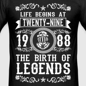 1988 - 29 years - Legends - 2017 T-skjorter - Slim Fit T-skjorte for menn