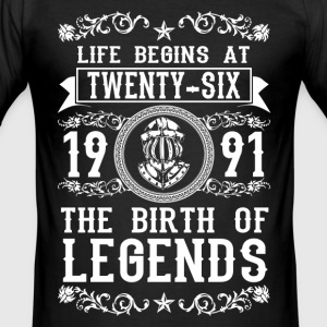 1991 - 26 years - Legends - 2017 T-skjorter - Slim Fit T-skjorte for menn