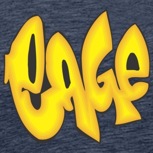 cage graffiti - Men's Premium T-Shirt