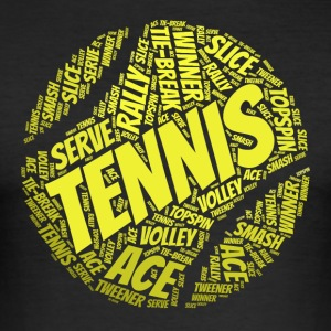 Tennisball Typo-Style T-Shirts - Männer Slim Fit T-Shirt