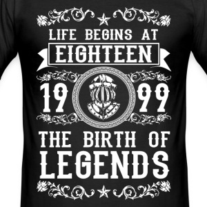 1999- 18 years - Legends - 2017 T-Shirts - Men's Slim Fit T-Shirt