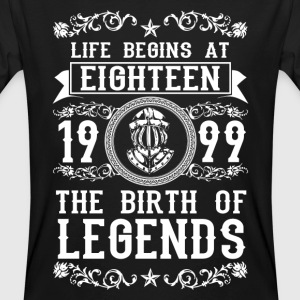 1999- 18 years - Legends - 2017 T-shirts - Organic mænd