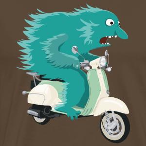 Monster fährt Vespa