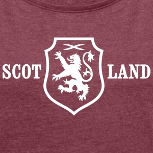 SCOTLAND COAT OF ARMS T-Shirts - Women's T-shirt with rolled up sleeves