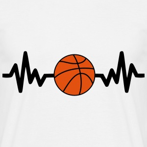Basket, Basketball, Basket-ball, basketlag - T-shirt herr