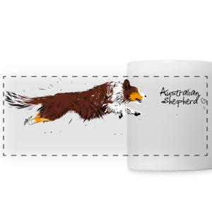 Australian Shepherd, red tri Tazze & Accessori - Tazza con vista