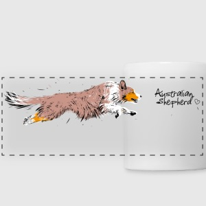Australian Shepherd, red merle Mugs & Drinkware - Panoramic Mug