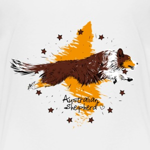 Australian Shepherd, red tri Shirts - Teenage Premium T-Shirt