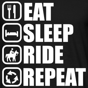 Eat,sleep,ride,repeat, Pferd, Reiten t-shirt  - Männer T-Shirt