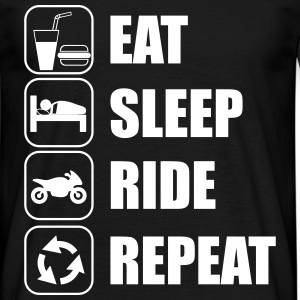 Eat,sleep,ride,repeat , Motorcykel t-shirt  - T-shirt herr
