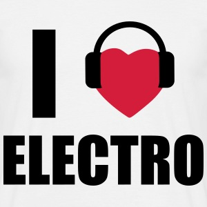 I love Music - Electro - T-shirt herr