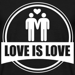 Love is love, gay-pride t-shirt  - T-shirt herr