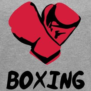 Boxing T-Shirts - Women's T-shirt with rolled up sleeves