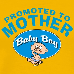 Promoted To New Mother Baby Boy CUSTOMIZE ADD DATE - Men's Premium T-Shirt