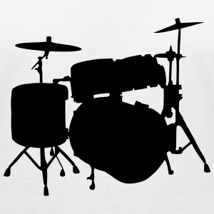Drums T-Shirts - Women's V-Neck T-Shirt