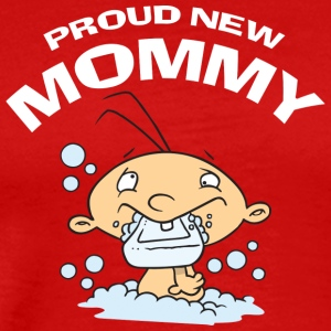 Proud New Mommy (CUSTOMIZE ADD DATE YEAR) - Men's Premium T-Shirt